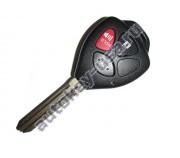 Toyota(Тойота) ключ с дистанционным управлением (2 кнопки+panic), чип 4D-67. Лезвие TOY 43. Подходит к автомобилям из США до 2010 г.в. Номер ID:: HYQ12BBY