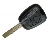 Peugeot(Пежо) корпус дистанционного ключа 2 кнопки(БЕЗ боковых каналов)