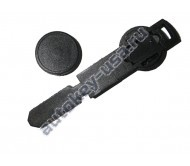 Emergency key Peugeot заготовка с местом под чип