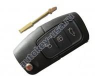 Ford(Форд) ключ выкидной с дистанционным управлением (3 кнопки). Чип 4D-63 Модели:: Fusion
