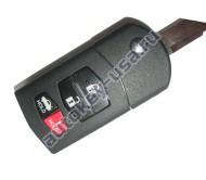 Mazda(Мазда) выкидной ключ с дистанционным управлением (3 кнопки+panic). Для автомобилей из США