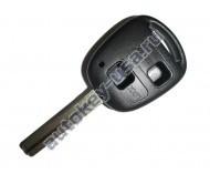 Toyota(Тойота) корпус дистанционного ключа (2 кнопки), лезвие TOY 48(лезвие 36мм)
