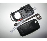Volkswagen(Фольксваген) корпус выкидного ключа (3 кнопки+panic). Модель TOUAREG Европа и США