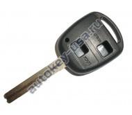 Toyota(Тойота) корпус дистанционного ключа (2 кнопки), лезвие TOY 48(лезвие 45мм)
