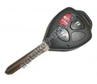 Toyota(Тойота) корпус дистанционного ключа (2 кнопки+panic), лезвие TOY 43