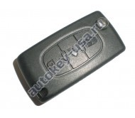 Citroen(Ситроэн) корпус выкидного ключа. Внимание::Центральная кнопка ФАРА, 2 варианта расположения батарейки ( Смотрите описание)