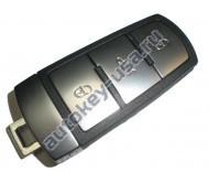 Volkswagen(Фольксваген) smart ключ. Подходит к модели PASSAT B6, B7, CC. С функцией KEYLESS GO. Для моделей из Европы