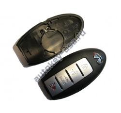 INFINITI(Инфинити) КОРПУС SMART КЛЮЧА 3 кнопки + PANIC СО СЛОТОМ