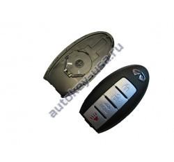 INFINITI(Инфинити) КОРПУС SMART КЛЮЧА 3 кнопки + PANIC без слота
