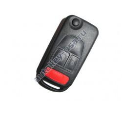 Mercedes(Мерседес) корпус выкидного ключа (3 кнопка+panic) С ифракрасной лампочкой