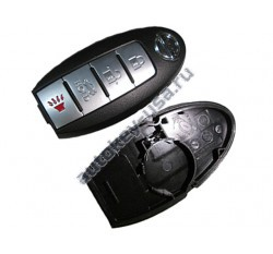 Nissan(Ниссан) корпус smart ключа 4 кнопки (Слот)