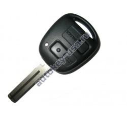 Toyota(Тойота) ключ с дистанционным управлением (2 кнопки), чип 4С. Лезвие TOY 48. Модель LAND CRUISER