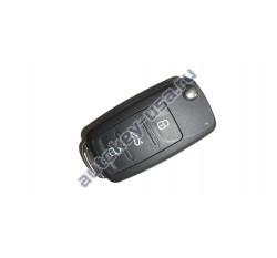 Volkswagen(Фольксваген) выкидной ключ с дистанционным управлением 3 кнопки. Для автомобилей из Европы. С функцией KEYLESS GO. Номер:: 5K0 837 202 AJ