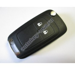 Chevrolet(Шевроле) корпус выкидного ключа (2 кнопки). Модели:: Cruze hatchback, Aveo II hatchback, Orlando