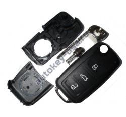 Volkswagen(Фольксваген) корпус выкидного ключа (3 кнопки). С 2008->: Европа