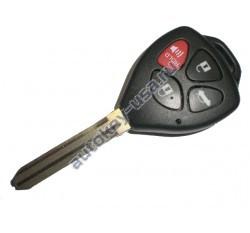 Toyota(Тойота) ключ с дистанционным управлением (3 кнопки+panic), чип 4D-67. Лезвие TOY 43. Подходит к автомобилям из США до 2010 г.в. Модель Camry. Номер ID:: HYQ12BBY