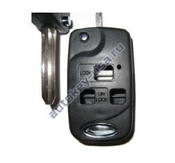 Toyota(Тойота) корпус выкидного ключа (3 кнопки), лезвие TOY 43