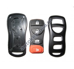 Nissan(Ниссан) корпус брелока (3 кнопки+panic). Для автомобилей из США