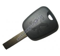 Peugeot(Пежо) заготовка ключа с чипом (чип 46)(БЕЗ боковых каналов)