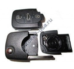 Audi(Ауди) корпус выкидного ключа (3 кнопки) с местом под 1 батарейку