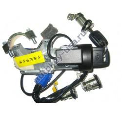 SUBARU(Субару) комплект замков с двумя ключами (с чипами)
