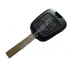 Citroen(Ситроэн) корпус (заготовка дистанционного ключа, 2 кнопки). С боковыми каналами