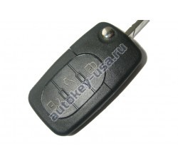 Audi(Ауди) ключ выкидной с дистанционным управлением. Модель:: A6 (3 кнопки). Европа. 2002-2005г. 4D0 837 231 K