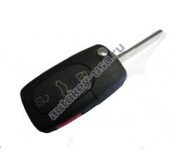 Audi(Ауди) ключ выкидной с дистанционным управлением. Модели::A4,A6,A8,TT,Allroad (3 кнопки+panic) США. 4D0 837 231 P