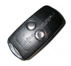 Honda(Хонда) выкидной ключ с дистанционным управлением (2 кнопки), 433Mhz. Модель CR-V с 2010 по 2013г.в.