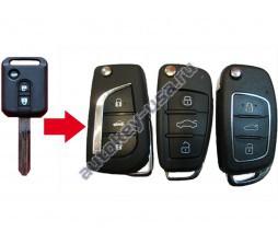 Nissan(Ниссан) Almera Classic выкидной ключ с чипом и платой