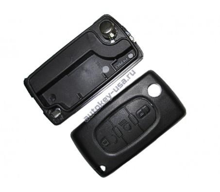 Citroen(Ситроэн) корпус выкидного ключа. Внимание:: 2 варианта расположения батарейки ( Смотрите описание)