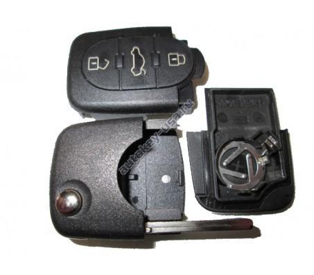 Корпус выкидного ключа A6 A4 A3 A8 3 кнопки
