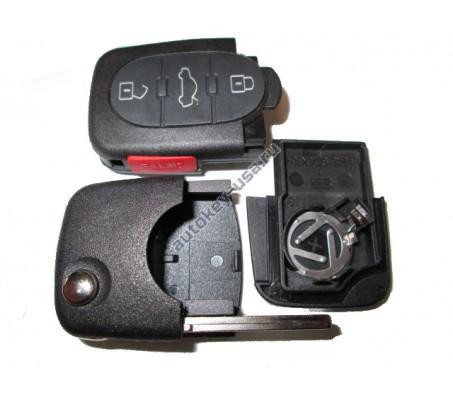Audi корпус выкидного ключа 3 кнопки + паника