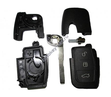 Ford(Форд) корпус выкидного ключа 3 кнопки