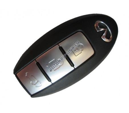 Infiniti(Инфинити) smart ключ 3 кнопки. Модели FX35,37,50 с 2011-2014,QX50 c 2014,QX70 c 2014,FX30d с 2012 433Mhz