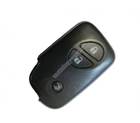 Lexus(Лексус) smart ключ 3 кнопки.Модели: GS450H,LS600Н,600HL до 2008 г.в Голубая эмблема. Для гибридных авто. MDL B53EA,P1-94,433Mhz
