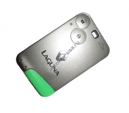Renault(Рено) Laguna smart-карта 2 кнопки ( Чип 7947 ) БЕЗ системы KeyLess GO