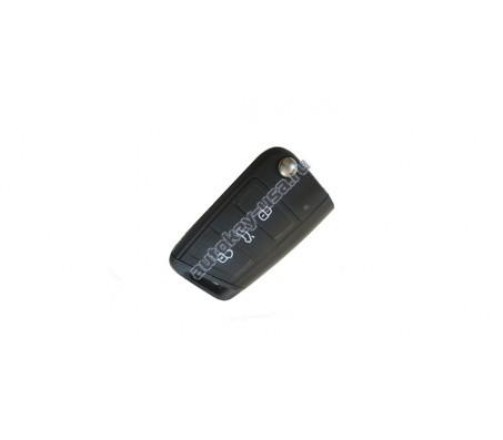 Skoda(Шкода) A7 выкидной ключ с дистанционным управлением 3 кнопки Без системы Keyles'Go (Megsmos AES)