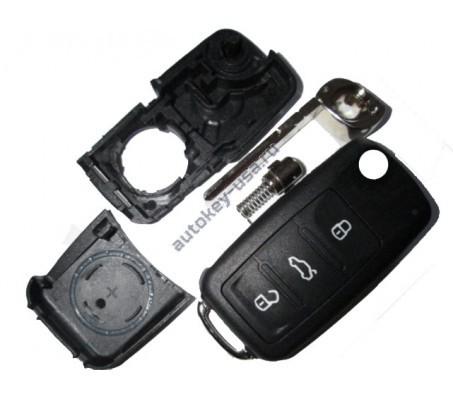 Skoda(Шкода) корпус выкидного ключа 3 кнопки