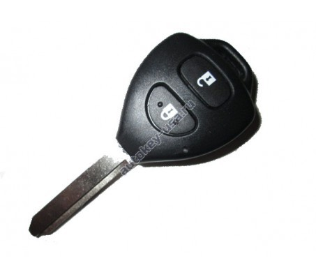Toyota(Тойота) ключ VALEO с дистанционным управлением (2 кнопки), чип 4D-70. Лезвие TOY 47. Подходит к моделям, произведенным в Великобритании до 2010 г.в