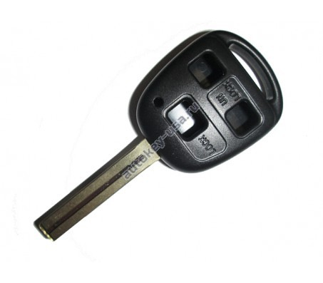 Toyota(Тойота) корпус дистанционного ключа (3 кнопки), лезвие TOY 48