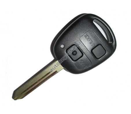 Toyota(Тойота) ключ с ДУ 2 кнопки Yaris 2006-2011 чип 4D-70
