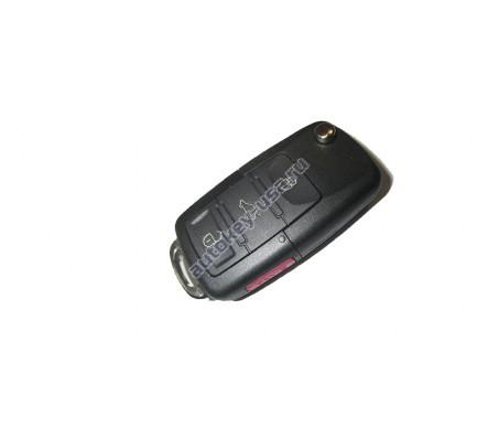 Volkswagen(Фольксваген) выкидной ключ с дистанционным управлением (3 кнопки+panic). С 2005-2008г. США. Номер:: 1KO 959 753 H,P