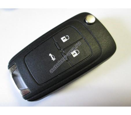 Chevrolet(Шевроле) ключ выкидной с дистанционным управлением (3 кнопки). Модели:: Cruze sedan, Aveo II sedan