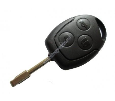 Форд ключ с дистанционным управлением (3 кнопки). Чип 4D-60. Модели:: Focus I, Mondeo и д.р модели