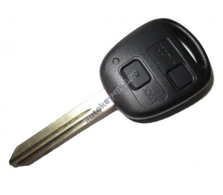 TOYOTA(Тойота) ключ VALEO с ДУ (2 кнопки), чип 4С. Для моделей:: COROLLA британской сборки.Avensis 2001-2003