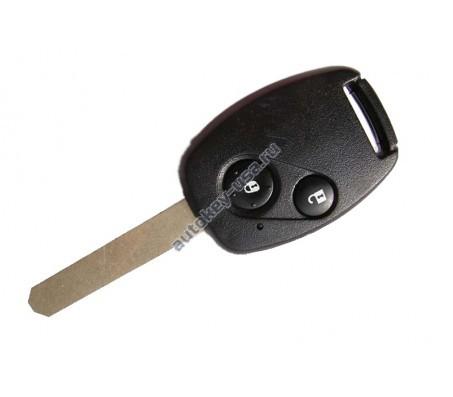 Хонда ключ с дистанционным управлением (2 кнопки), чип 46. Модель Civic 2006-2011г