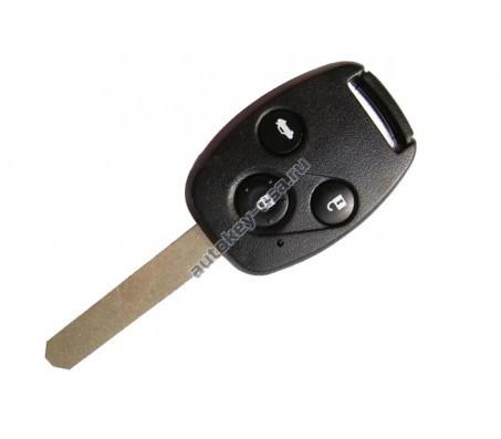 Хонда ключ с дистанционным управлением (3 кнопки), чип 46. Модель Accord 2008-2010г