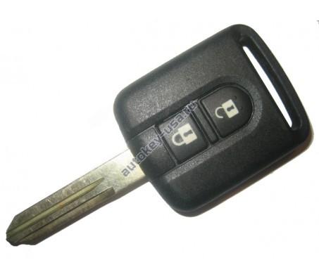 Nissan(Ниссан) ключ с дистанционным управлением 2 кнопки, чип 46(электронный)