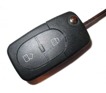 Audi(Ауди) ключ выкидной с дистанционным управлением 2 кнопки. Европа. 1998-2005г. 4D0 837 231 R